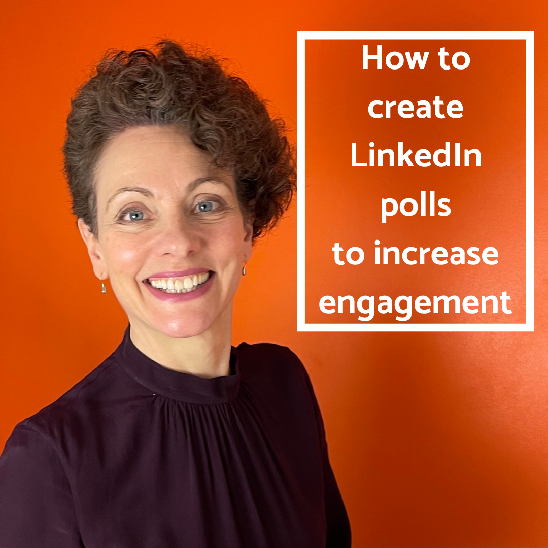 How to create LinkedIn polls to increase engagement image with Sarah Clay