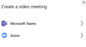 Create a video meeting in LinkedIn