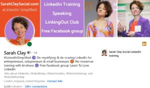 Sarah Clay LinkedIn profile